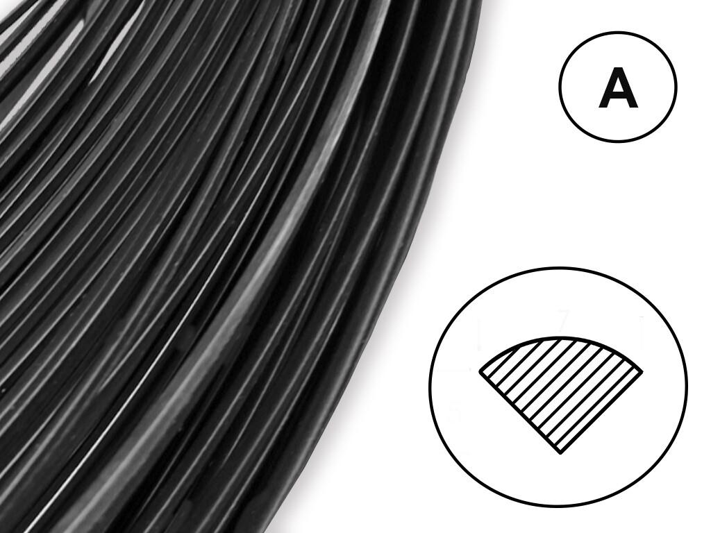 Сварочный пруток ПП черный (профиль А)