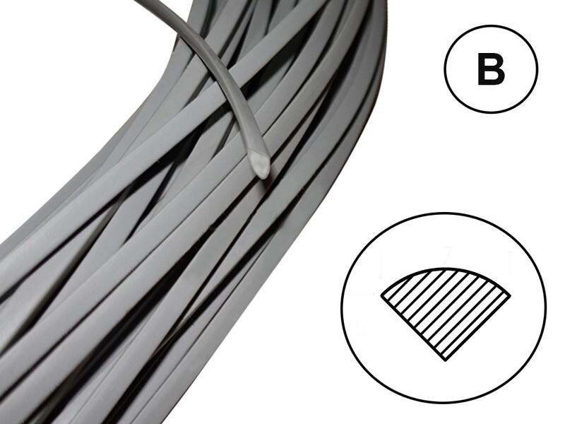 Сварочный пруток ПВХ-Н (твердый) профиль В /серый