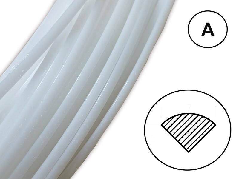 Сварочный пруток ПОМ цвет натуральный (профиль А)