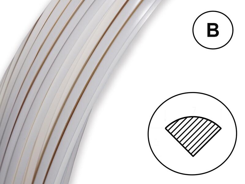 Сварочный пруток ПЭНД белый (профиль В)