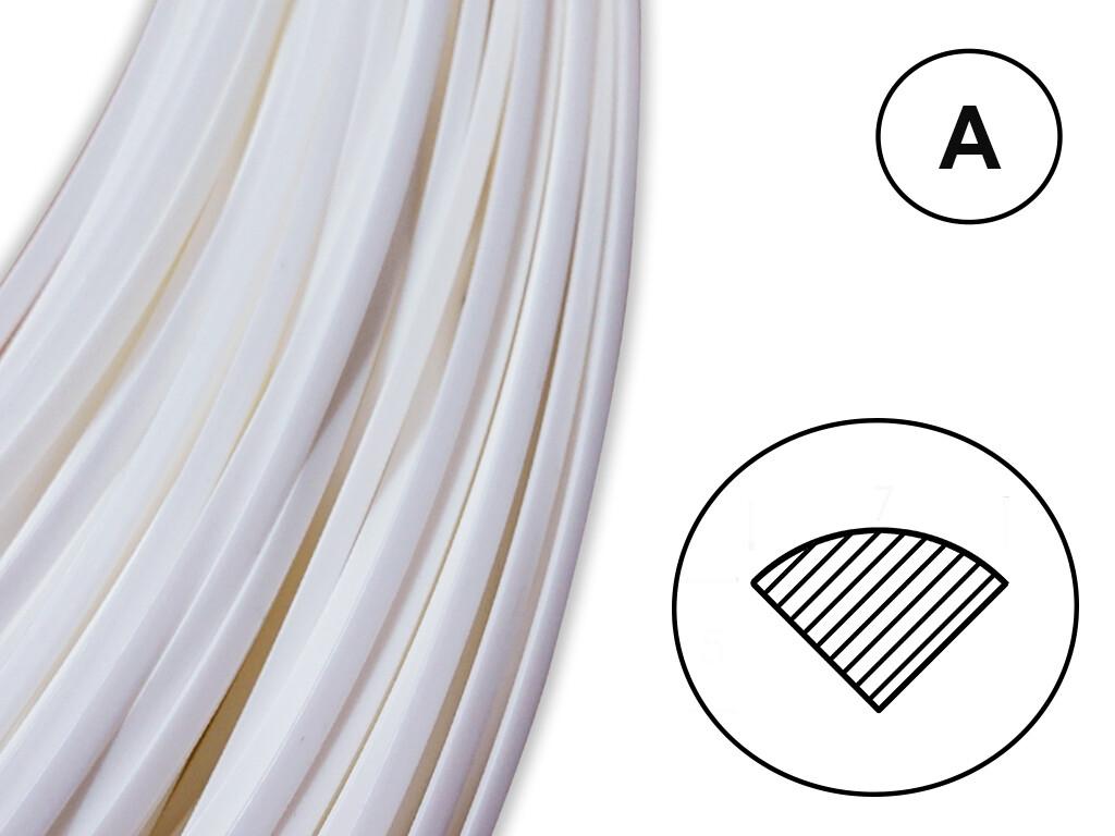 Сварочный пруток ПЭНД белый (профиль А)