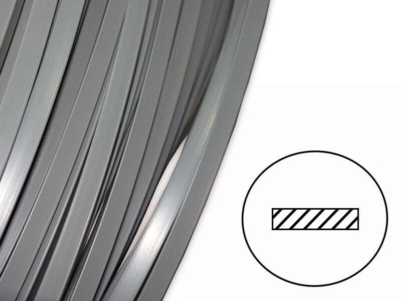 Сварочный пруток PC/PBTP (Xenoy) серый (плоский 8х2 мм)