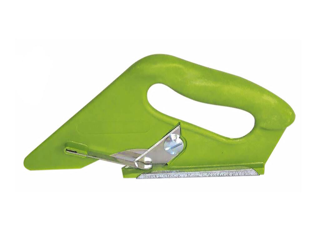 Резак универсальный для текстильных покрытий, зеленый