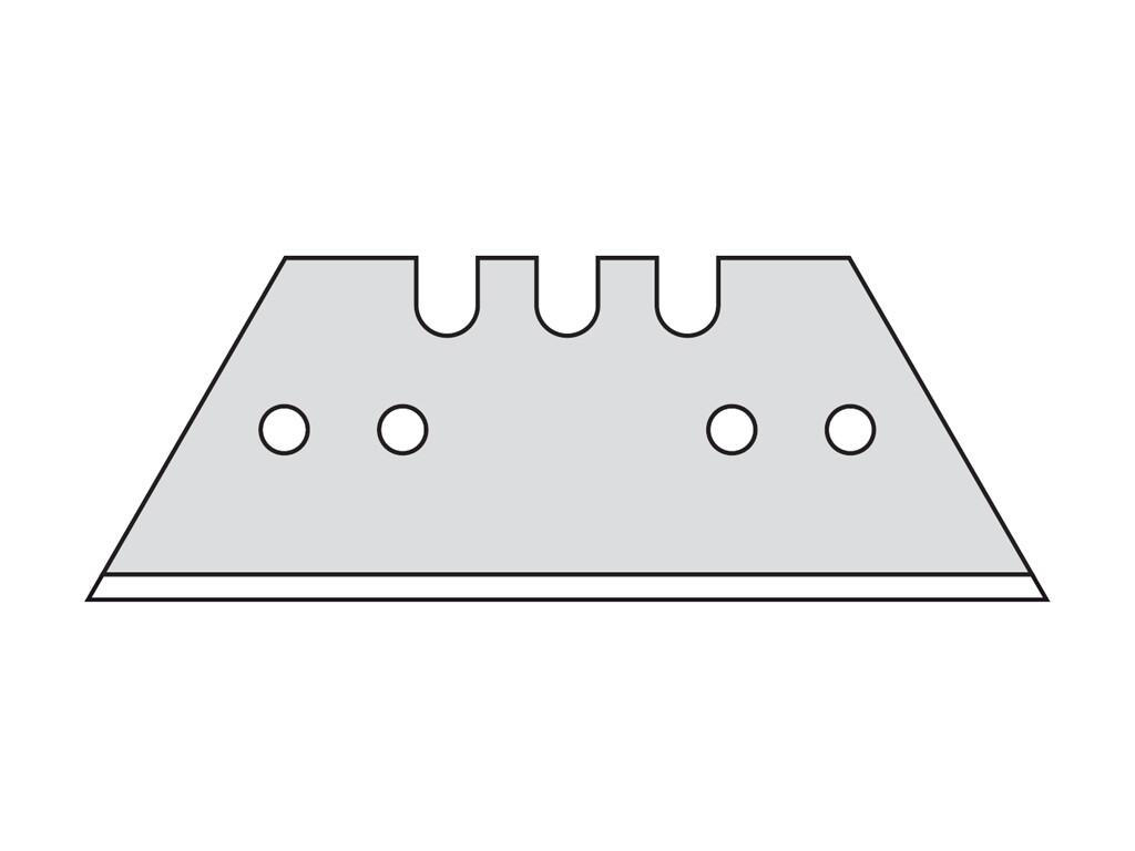 Трапециевидные лезвия Mozart, 0,65 мм, 10 шт