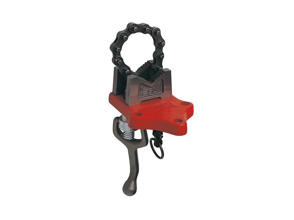 Цепные трубные тиски для труб с нижним креплением SUPER-EGO
