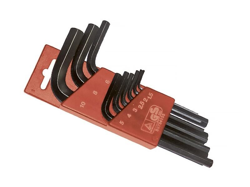 Набор торцовых внутренних ключей D 1,5 - 10 мм, 9 штук SUPER-EGO
