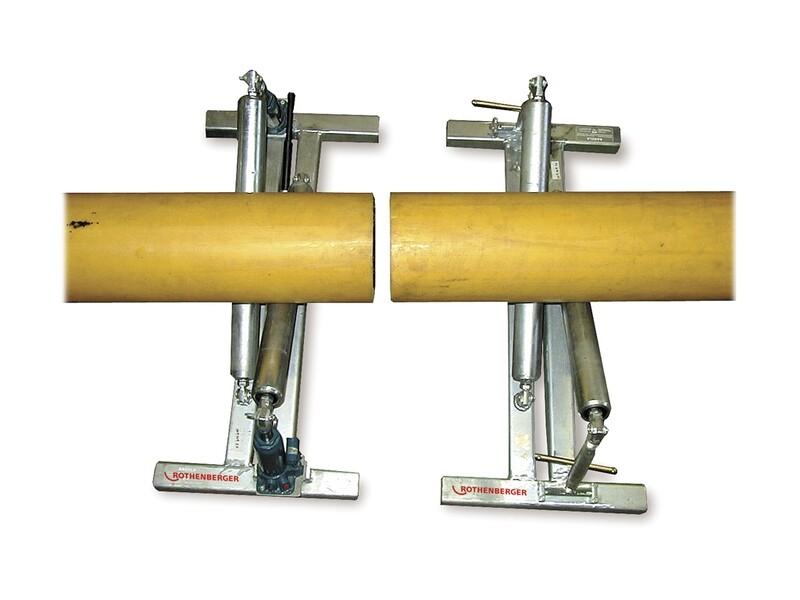 Роликовые гидравлические подпорки для труб до 1200 мм