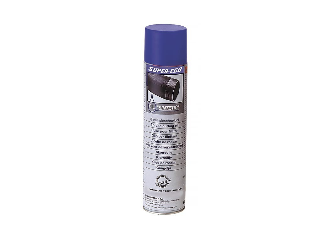 Синтетическое масло для нарезания резьбы (спрей, 600 мл) SUPER-EGO