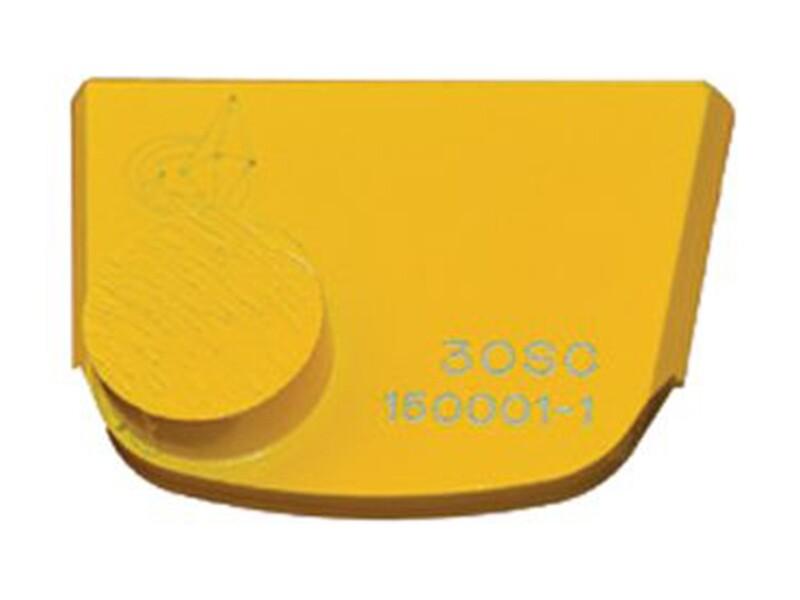 Шлифовальный сегмент для мягкого бетона. Желтый с одной кнопкой