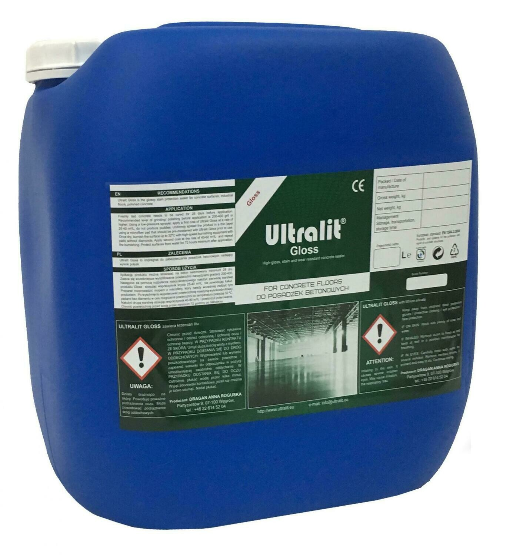 Глянцевая литиевая полировочная пропитка для бетона ULTRALIT GLOSS / сух. ост. 21% (30 л)