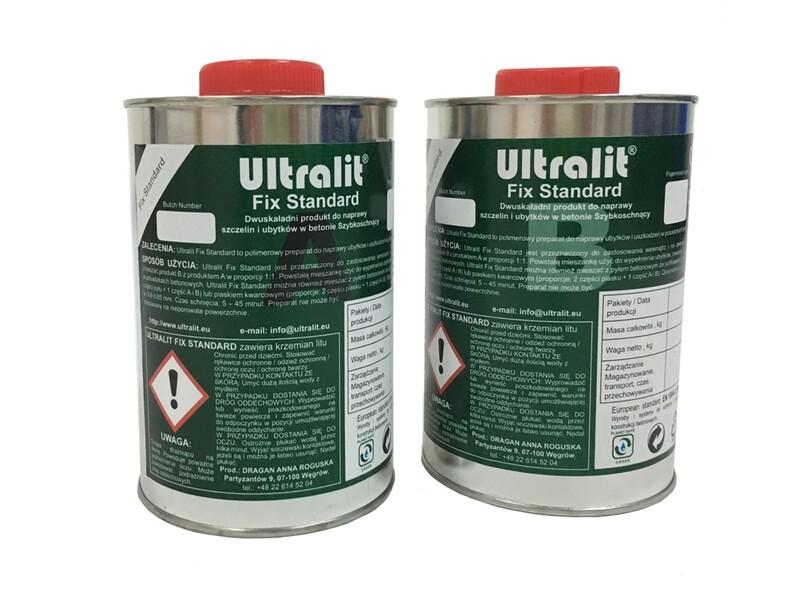 Ремонтный полимер на основе поликарбамида Ultralit FIX Standard. 2L kits (A+B)