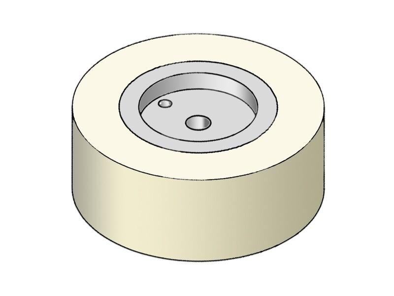 Прижимной силиконовый ролик 50A D- 63.5 мм (13мм/19мм/25мм/38мм/50мм/64мм