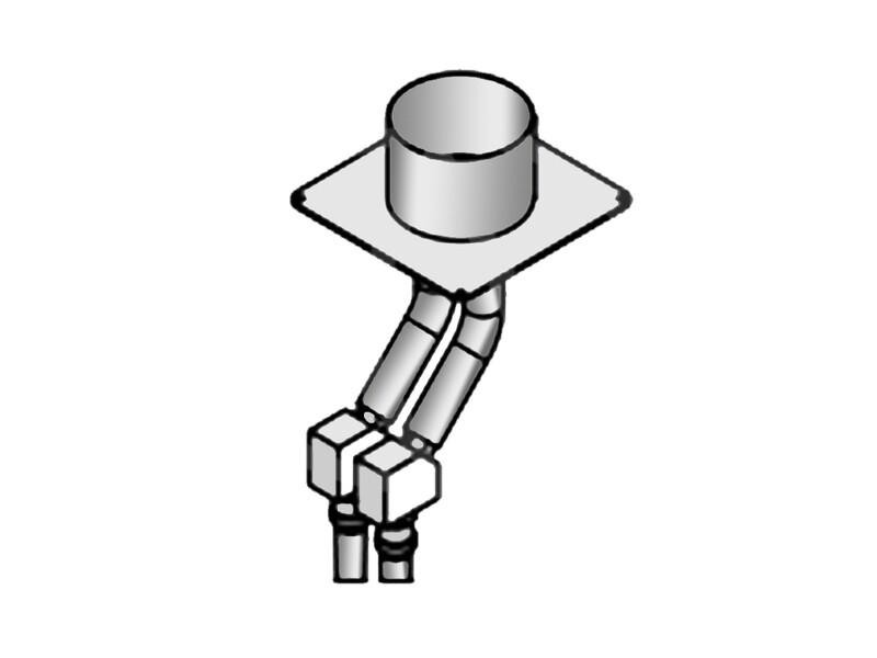 Соединительный адаптер для отвода сварочного дыма
