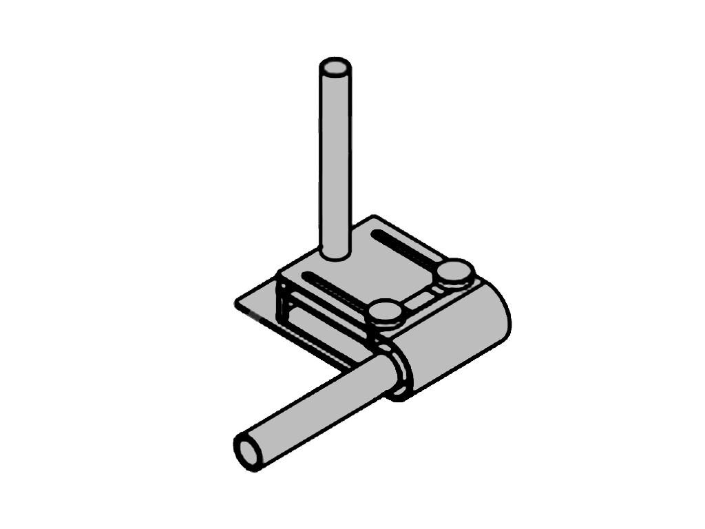 Направляющая для подворота/вваривания прутка или веревки