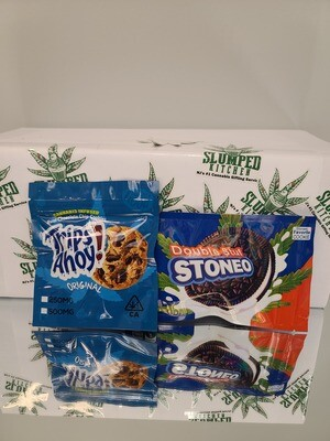 Trips A Hoy & Stoneo (Edible) (4 Assorted Packs 2000mg total) - Munchie Pack