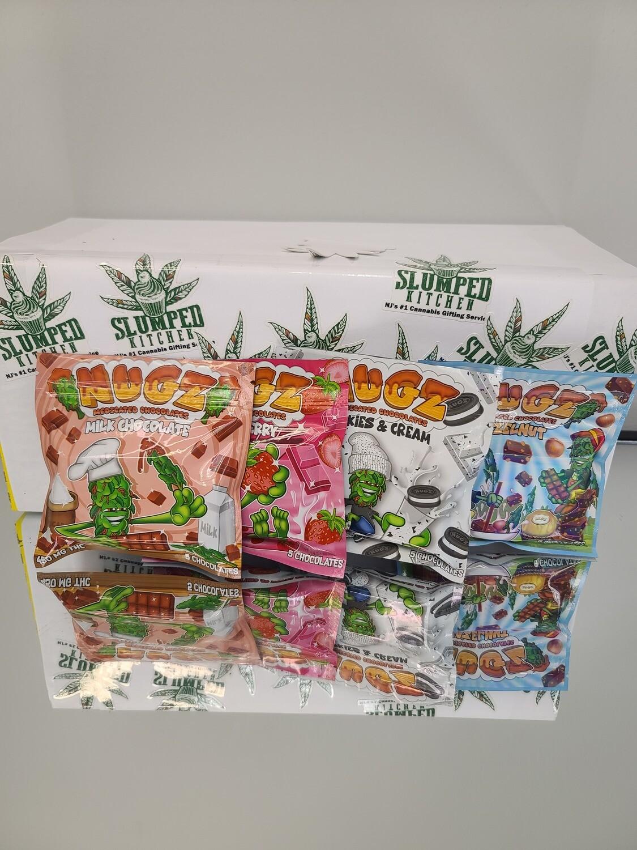 Nugz Chocolate Bars (Edible) (4 Assorted Packs 1800mg total) - Munchie Pack