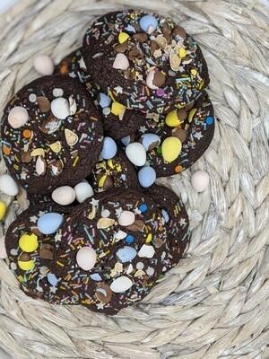 Fudgy Brownie Easter Cookies