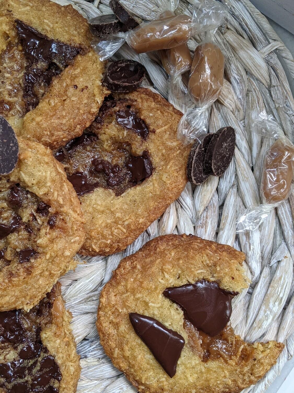 Coconut Caramel Chocolate Chunk Cookie