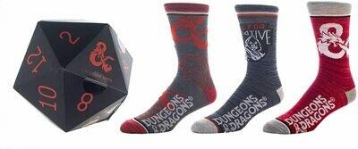 Dungeon & Dragons Set Socks