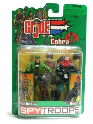 Gi Joe Spy Troops Tunnel Rat and Over Kill