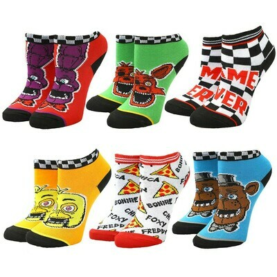Five Nights At Freddys Youth 6 Pack Socks