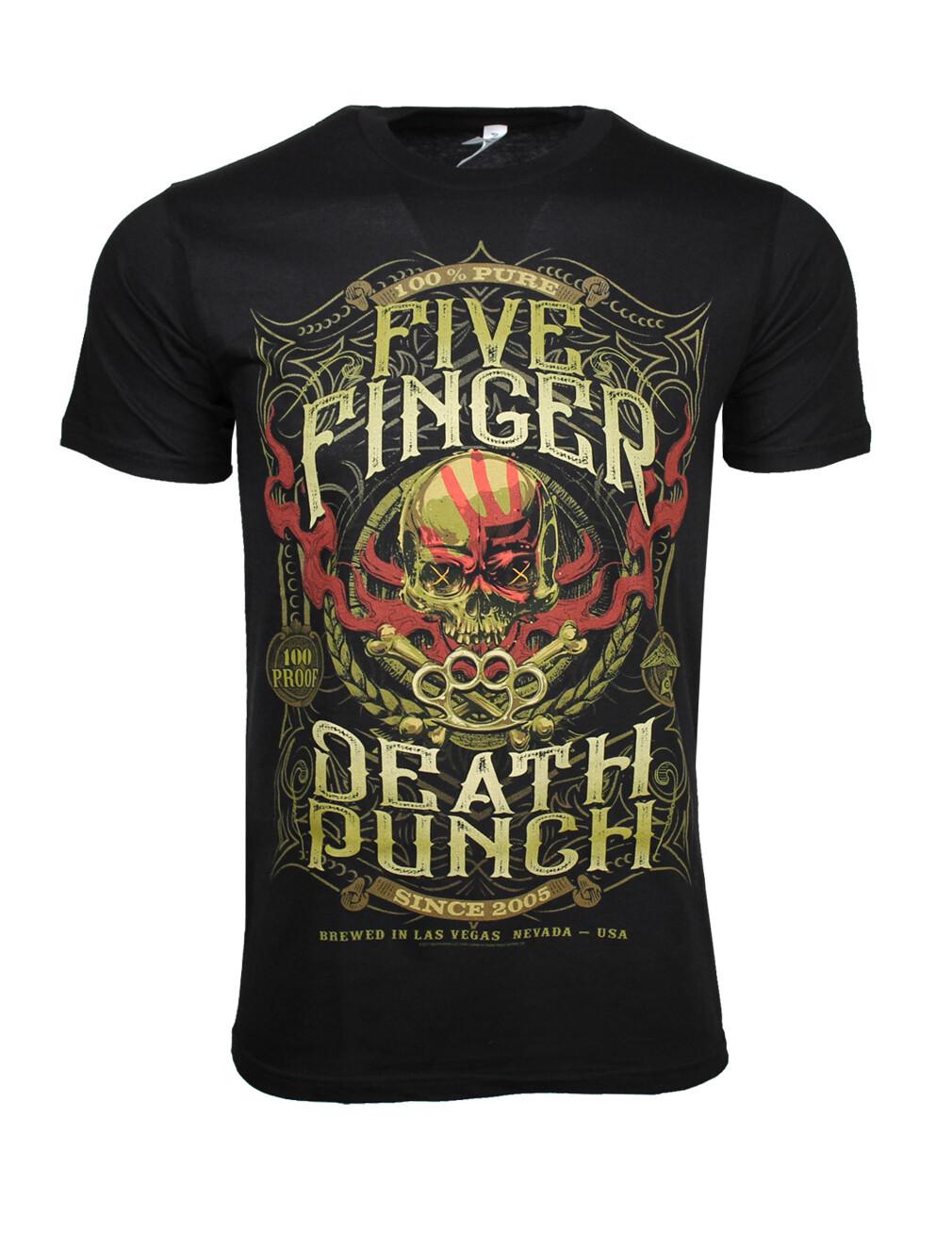 Five Finger Death Punch 100 Proof T Shirt