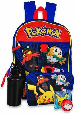 Pokemon 5 Piece Backpack