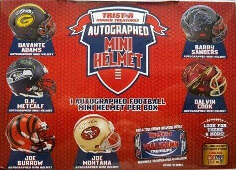 2021 Tristar Autographed Mini Football Helmet Box
