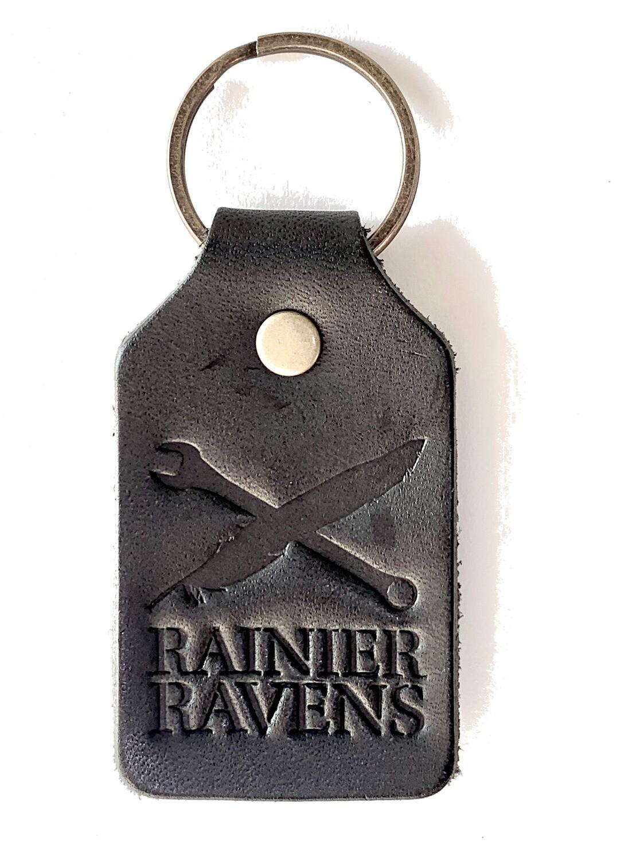 Ravens Leather Keychain