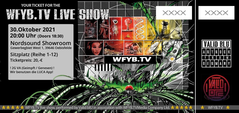 Ticket WFYB.TV Show 30.10.2021 / Oebisfelde
