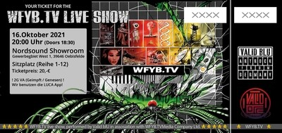 Ticket WFYB.TV Show 16.10.2021 / Oebisfelde