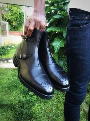 Cru Nonpareil Octavian Boot in Black Calf