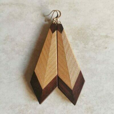 PIUMA TRADIZIONALE - Jarrah & Kauri Wooden Earrings
