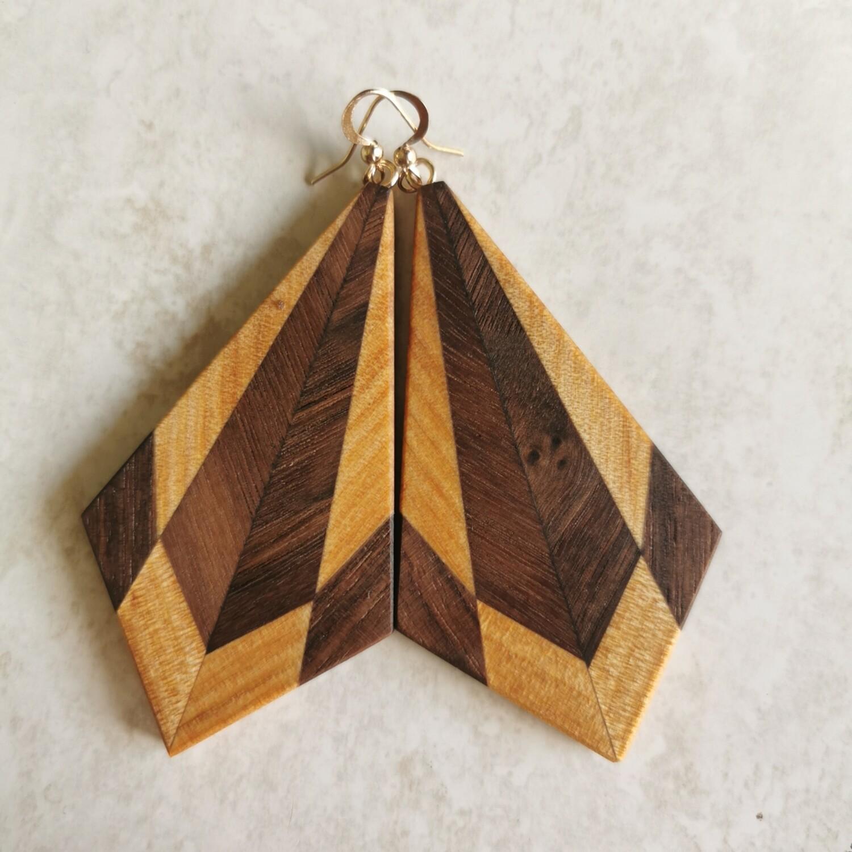 SUBLIME NOCE - Walnut & Kauri Wooden Earrings