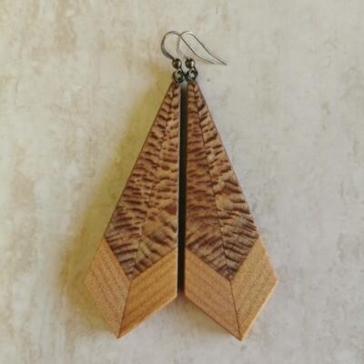 PIUMA TIGRE - Rewarewa & Kauri Wooden Earrings