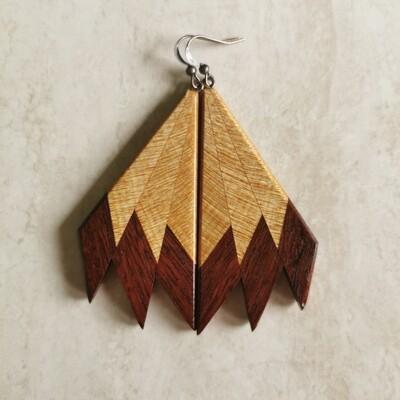 MIROMIRO 1 - Handmade Wooden Earrings