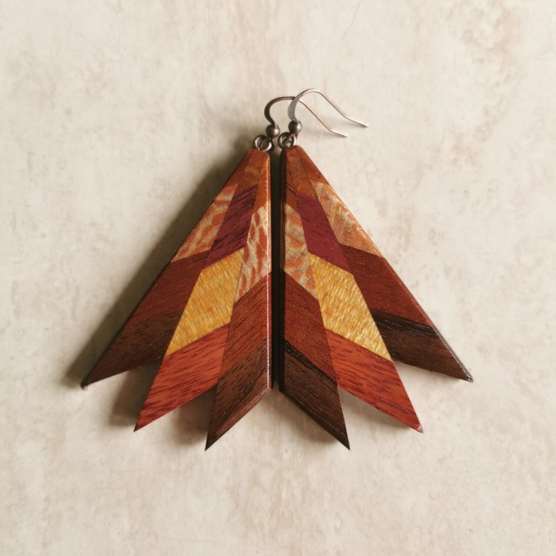 RAGGI AUTUNNO - Handmade Wooden Earrings