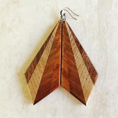 FAGGIO MOGANO - Handmade Wooden Earrings
