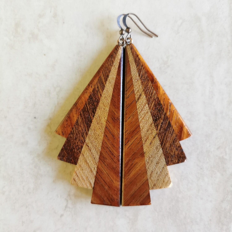PIWAKAWAKA 2 - Handmade Wooden Earrings