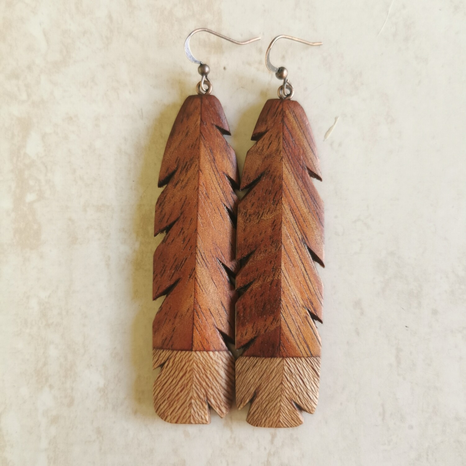 HUIA RAME - Hand Carved Wooden Earrings