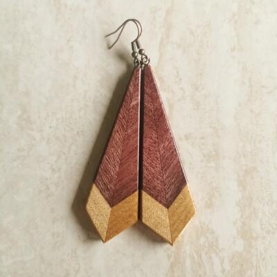 PIUMA VIOLA - Purple Heart & Kauri Wooden Earrings