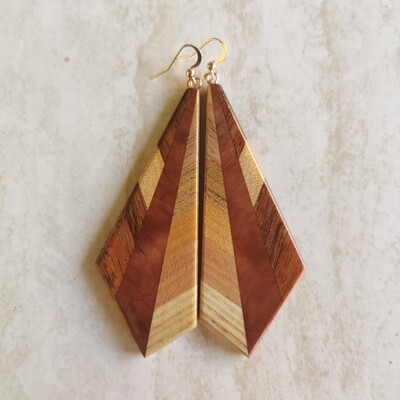 INVERNO FAGGIO - Handmade Wooden Earrings