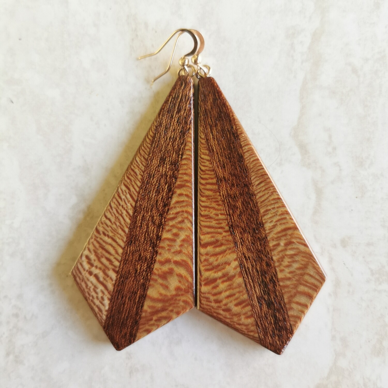 LINEA MOGANO - Handmade Wooden Earrings