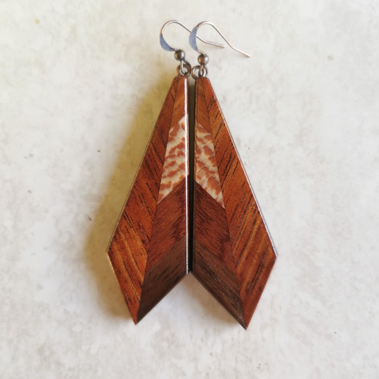 PIUMA AUTUNNO - Handmade Wooden Earrings
