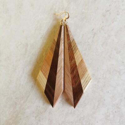 INVERNO ROSA - Handmade Wooden Earrings