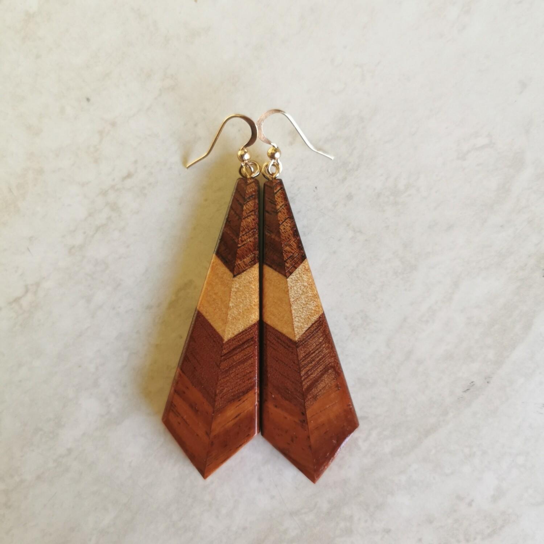 MINI AUTUNNO - Handmade Wooden Earrings