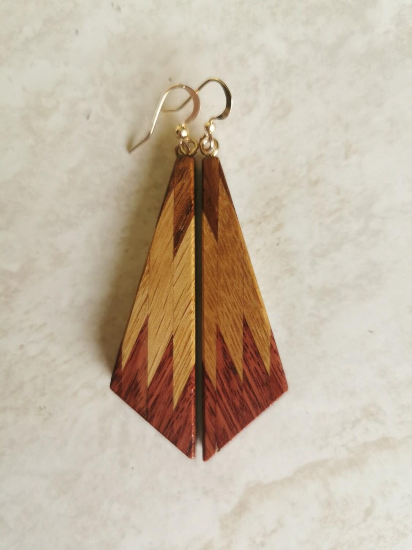 RARANGA ROSSO - Handmade Wooden Earrings