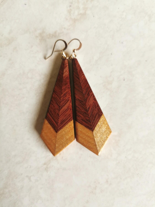 PIUMA CLASSICA - Jarrah & Kauri Wooden Earrings