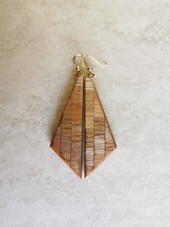 RARANGA ROSA - Handmade Wooden Earrings