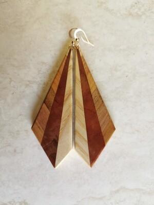 INVERNO BIANCO - Handmade Wooden Earrings